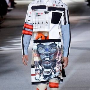 Givenchy Accessories - Givenchy Ricardo Tisci Tribal Robot Scarf, SS 2014